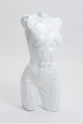 FLORENCE - 95cm - Statue buste origami taille M coloris blanc