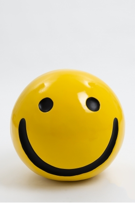 WORCESTER - 40cm - Statue emoticone smiley taille S coloris jaune