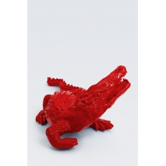 OCALA - 170cm - Statue crocodile taille XL colori rouge
