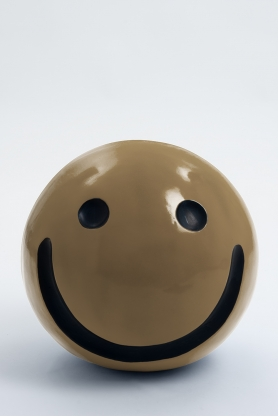 WORCESTER - 40cm - Statue emoticone smiley taille S colori mokka