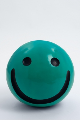 WORCESTER - 40cm - Statue emoticone smiley taille S colori vert canard