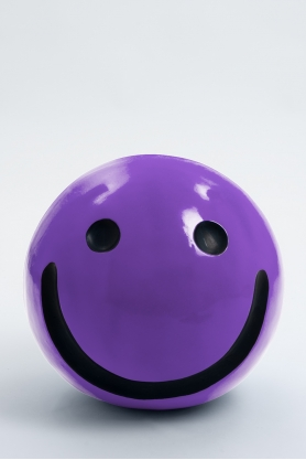 WORCESTER - 40cm - Statue emoticone smiley taille S colori violet