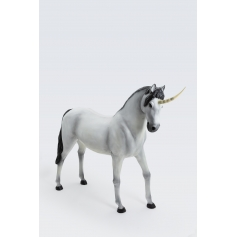 CLOVERBEAM - 185cm - Statue licorne taille XL design naturel