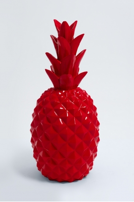 TEVELAVE - 70cm - Ananas origami taille M coloris rouge