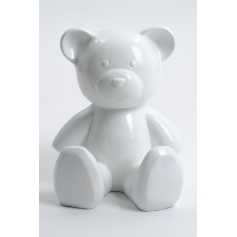 AION - 35cm - Statue ours ourson teddy bear taille S colori blanc