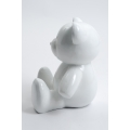 AION - 35cm - Statue ours ourson teddy bear taille S coloris blanc