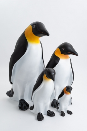 Pack - Famille pingouins OSLO 40/70/90/120cm colori naturel