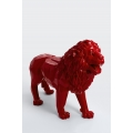 MOMBO - 100cm - Statue lion origami debout taille L colori rouge