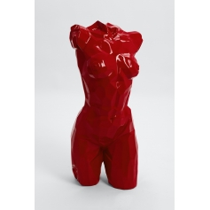 FLORENCE - 95cm - Statue buste origami taille M coloris rouge