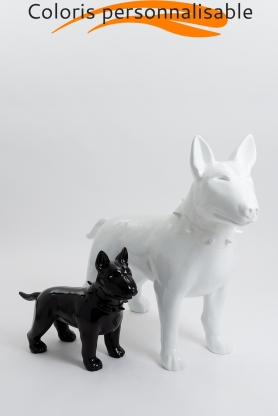 Pack personnalisable - bull terrier OXFORD 60cm et OXFORD 110cm colori au choix