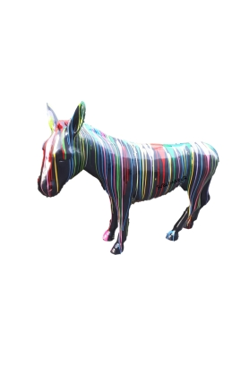 STATUE SCULPTURE ANE COLORI MULTICOLORE 160CM