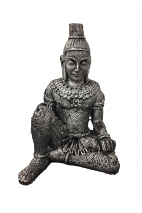 STATUE SCULPTURE BOUDDHA GUERRIER COLORI bronze 70CM