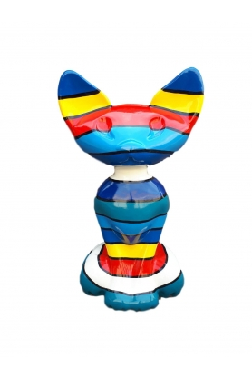 STATUE SCULPTURE RESINE CHAT PHARAON COLORI AU CHOIX 115CM