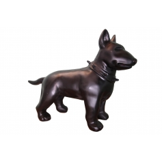 STATUE SCULPTURE MINI BULL TERRIER 60CM COLORI AU CHOIX