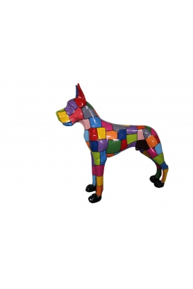 STATUE SCULPTURE dogue allemand 120 cm design puzzle