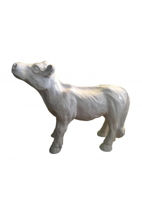 STATUE SCULPTURE veau mini vache COLORI blanc 70cm