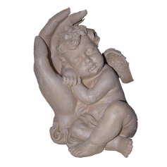 STATUE SCULPTURE COUPLE ANGE ANGELOT lit 23CM